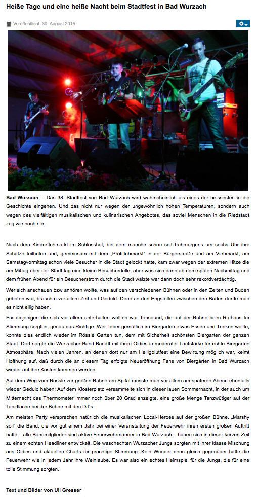 Quelle: diebilschirmzeitung.de, 30.08.2015