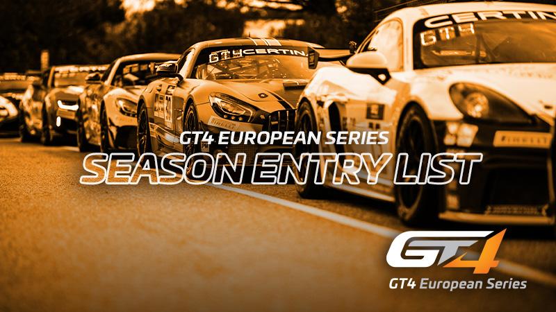 Großes Wachstum für die GT4 European Series mit einer 37 Fahrzeuge umfassenden Nennliste für die gesamte Saison