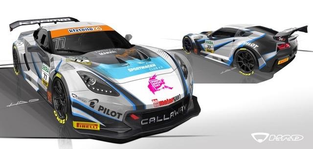 Callaway Competition mit neuem Look im ADAC GT Masters  chevrolet corvette