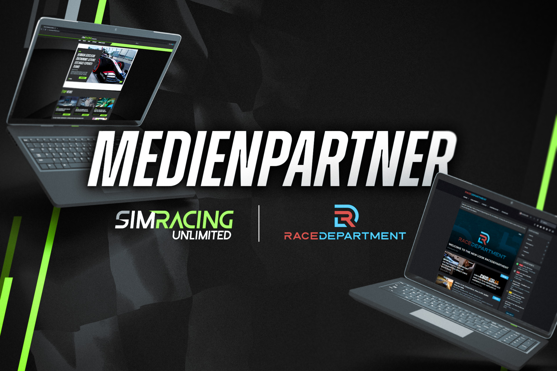 RaceDepartment & SimRacing Unlimited offizielle Medienpartner 2021