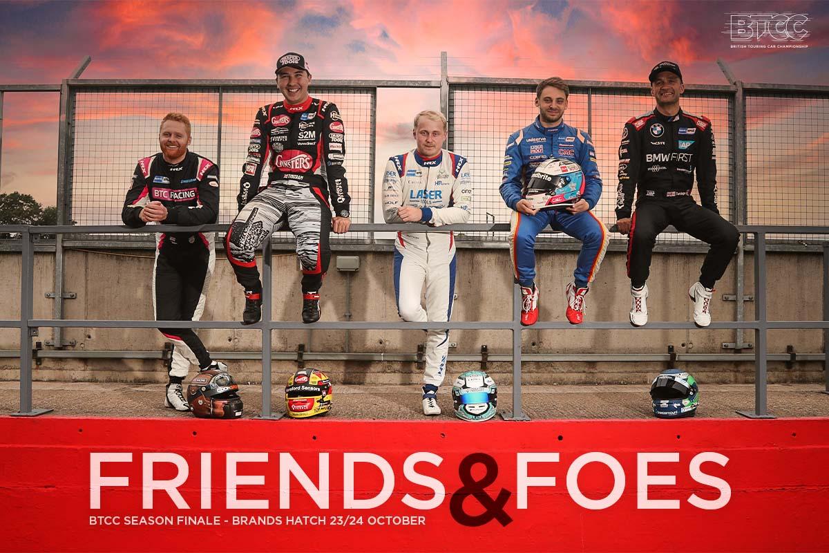 Freunde und Feinde - Fünf Titelanwärter rüsten sich für das BTCC-Finale in Brands Hatch