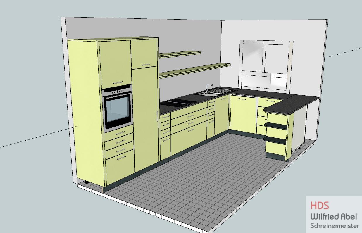 CAD-Zeichnung für Einbauküche