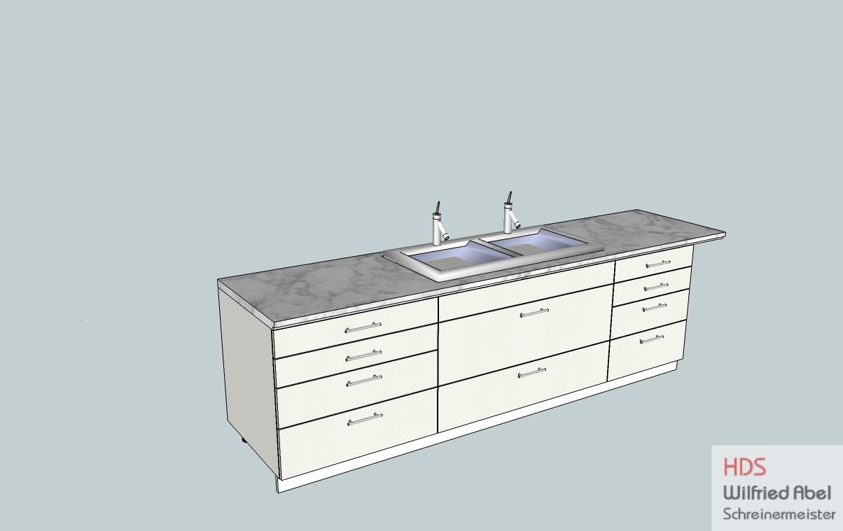 CAD-Zeichung zu Waschtischschrank