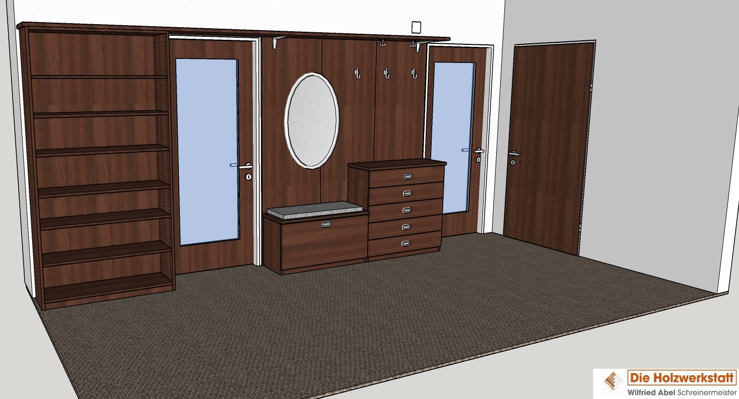 CAD-Planung Garderobenelement