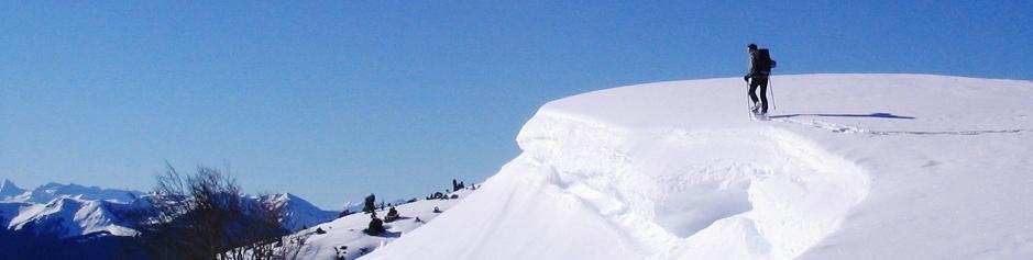 raquettes à neige en Comminges Pyrénées
