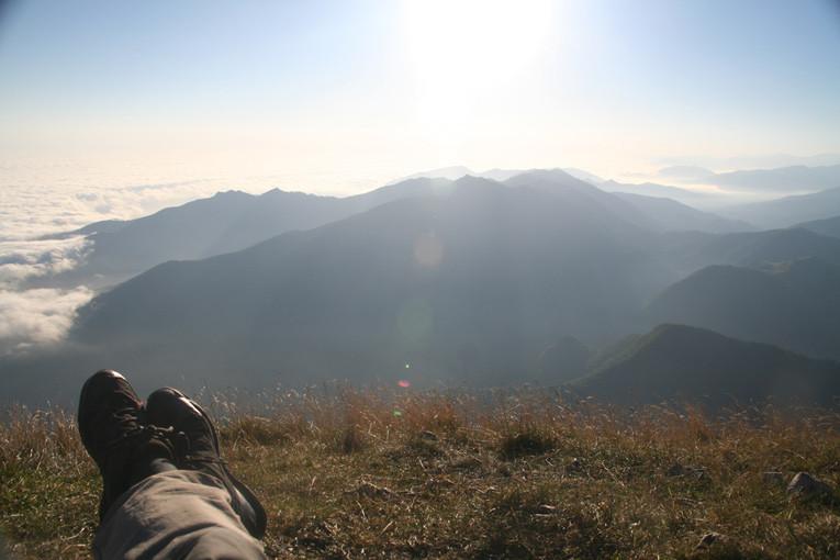 vue sur le mont Cagire