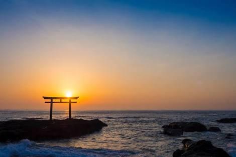 sunset Ibaraki Beach Ocean