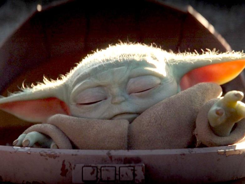 Baby Yoda, grande sucesso de histórias recentes de STAR WARS na série MANDALORIAN (Disney +)