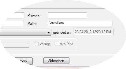 Textbaustein-Stammdaten