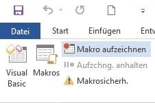 Toolbar von MS Word