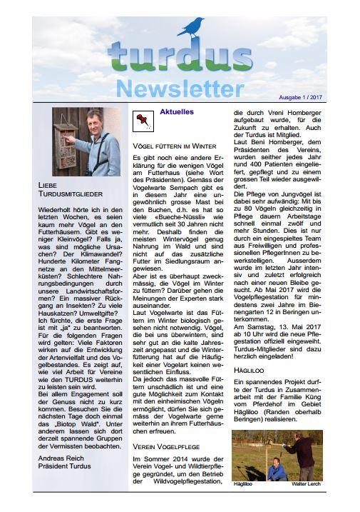 Newsletter 1/2017