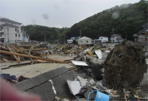 津波被災状況・諏訪側の南側エリア