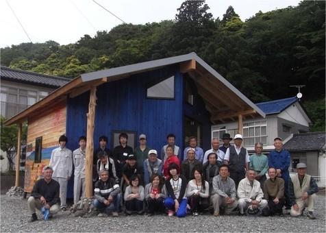 復興支援活動 復興事務所建設 住民参加現場のワークショップ