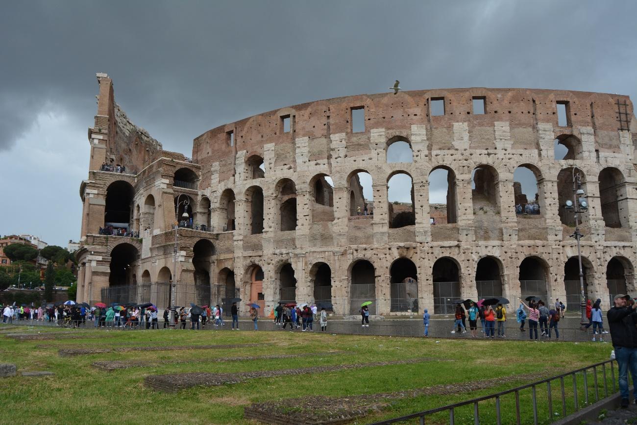 Dunkle Wolken über Rom: Auch im Mai kann man in Italien nicht immer auf Sonne hoffen. (Foto: KAS-Stipendiaten)