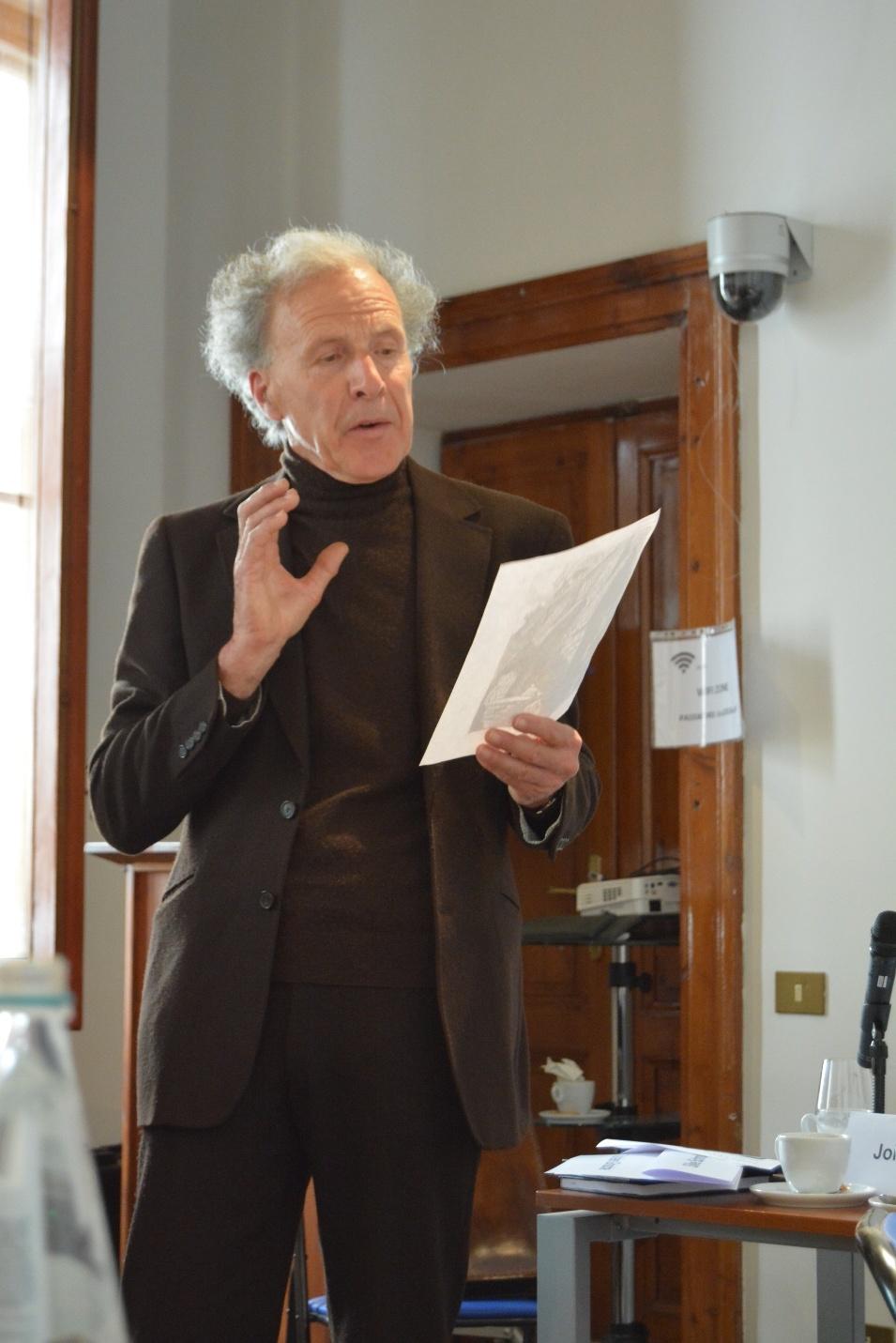 Kenner der deutsch-italienischen Literatur: Prof. Dr. Patrizio Collini von der Universität Florenz (Foto: KAS-Stipendiaten)