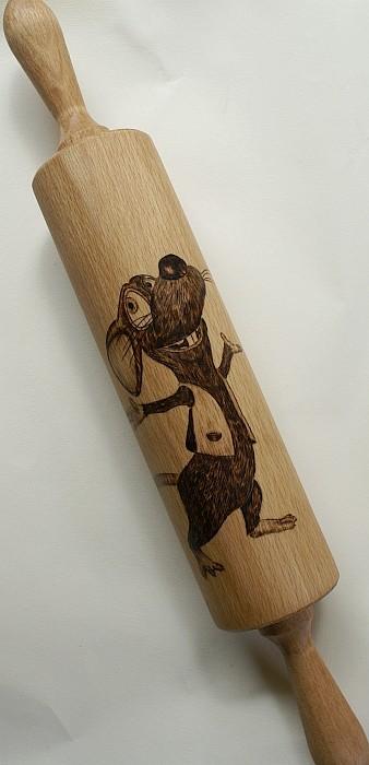 Nudelholz mit Maus