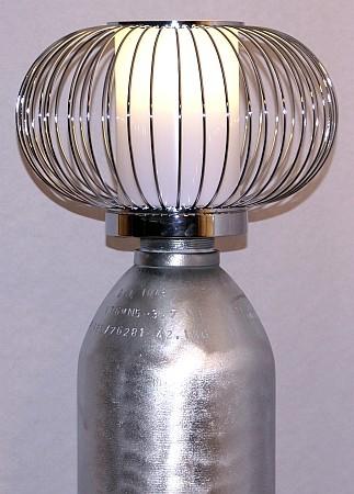 Designlampe alte Gasflasche