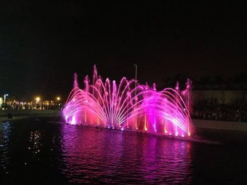 La fontaine lumineuse au parc YAM