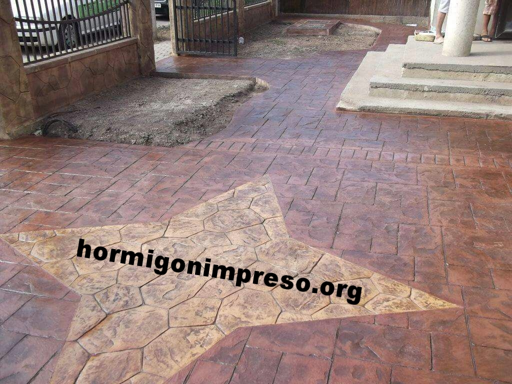Hormigon impreso pavimento impreso pavimentos de hormigon - Pavimento impreso precio m2 ...