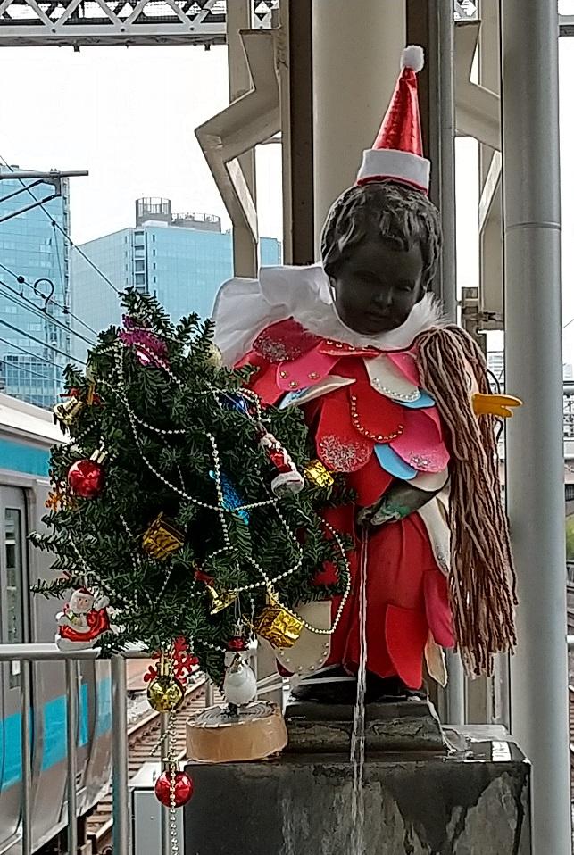 【浜松町駅】マネケン・ピース(平和の人形)~2020年12月~ジュリアン君