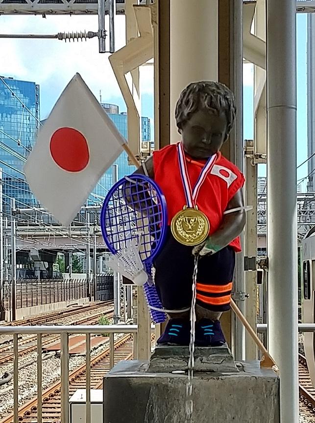 【浜松町駅】マネケン・ピース(平和の人形)~2021年8月~ジュリアン君