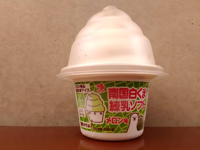 セイカ食品株式会社さんの「南国白くま練乳ソフト メロン味」
