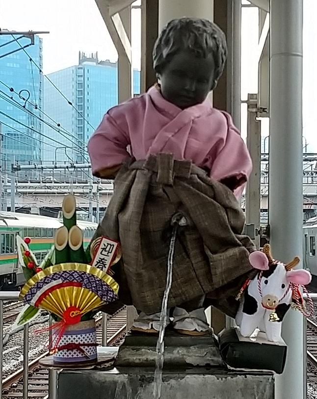 【浜松町駅】マネケン・ピース(平和の人形)~2021年1月~ジュリアン君
