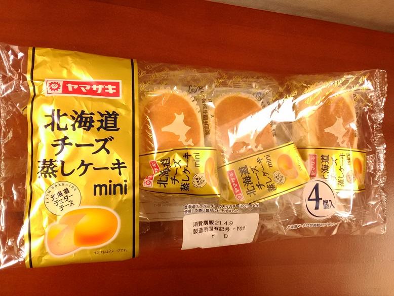山崎製パン株式会社さんの「北海道チーズ蒸しケーキmini」
