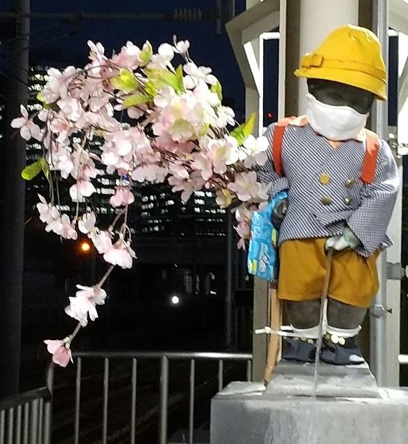 【浜松町駅】マネケン・ピース(平和の人形)~2021年4月~ジュリアン君