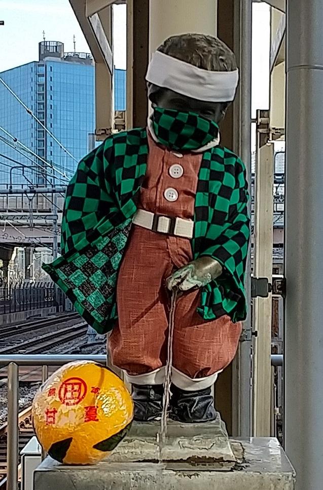 【浜松町駅】マネケン・ピース(平和の人形)~2021年2月~ジュリアン君