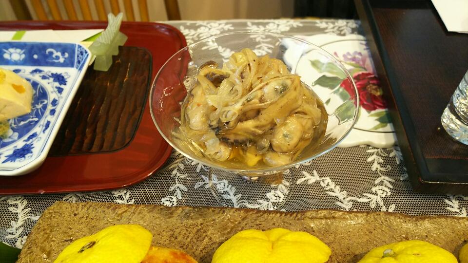 牡蠣の中華風オイル漬け