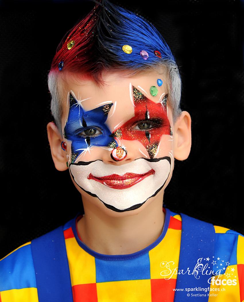 Kinderschminken_Vorlagen; Schminkfarben_kaufen_Schweiz; Kinderschminken_Kurse; Svetlana_Keller; Ballonmodellieren; Ballonmodellage; Airbrush_Tattoos; einfach; Clown