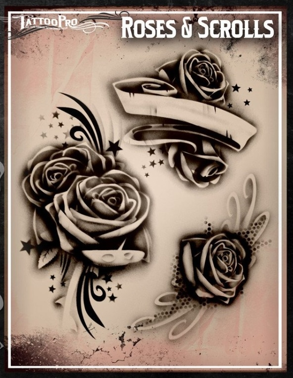 airbrush tattoos schablonen sparkling faces. Black Bedroom Furniture Sets. Home Design Ideas
