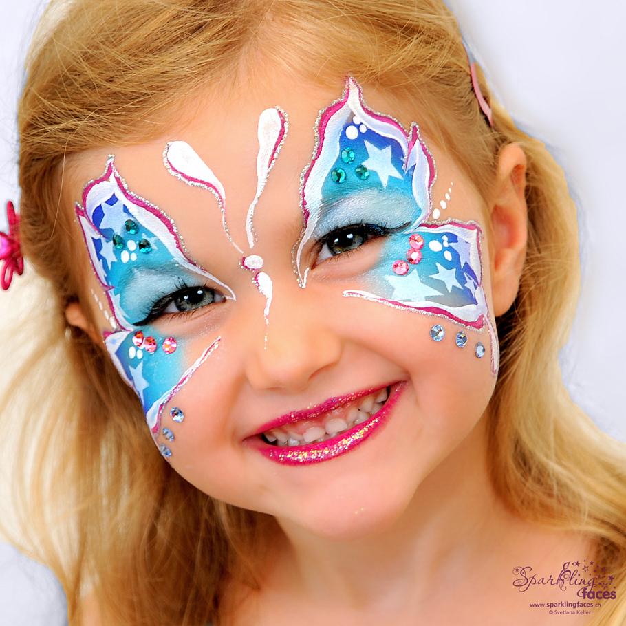 Kinderschminken_Vorlagen; Schminkfarben_kaufen_Schweiz; Kinderschminken_Kurse; einfach; Sterne