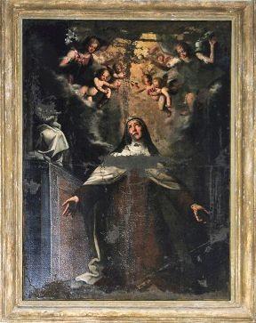 S. Teresa quadro della chiesa cinquecentesca in Napoli
