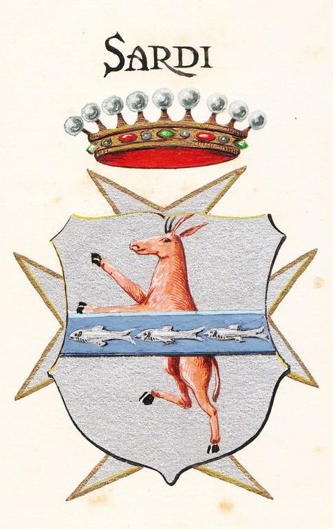 Lo stemma della famiglia Sardi