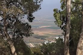 Veduta dal monte Carmelo