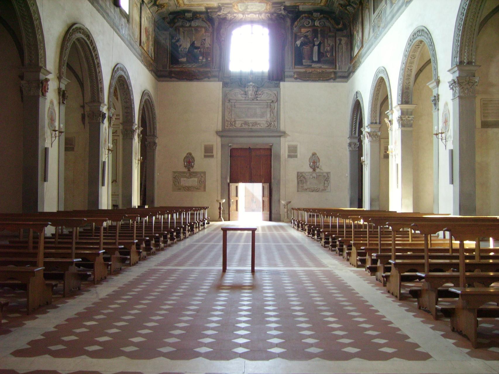 Borgo Pinti - Navata e controfacciata