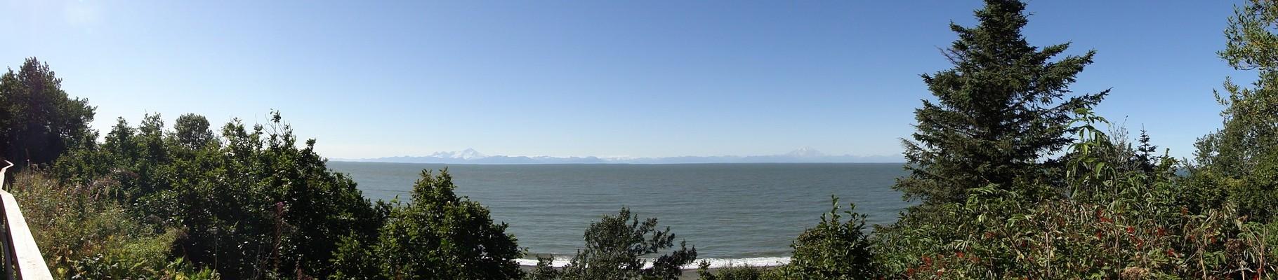 Panorama der beiden Vulkane von unserem Campground