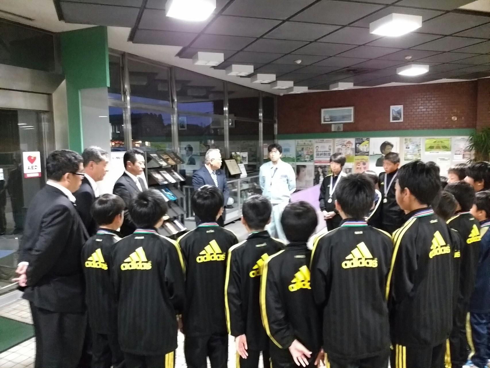 11月18日(水)射水市サッカー協会より表彰