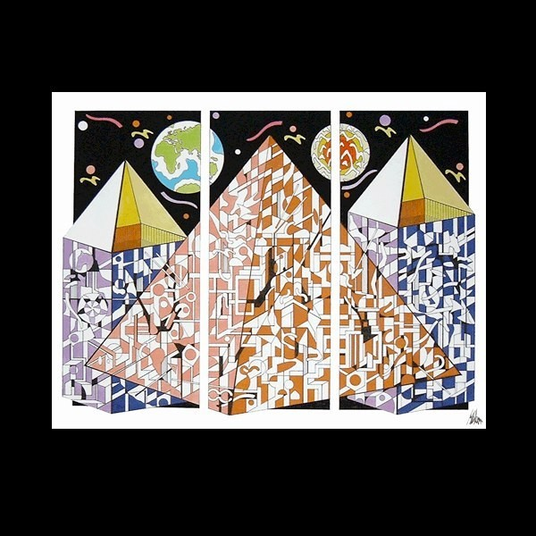 Pyramids 60 x 50 cm ©Marlon Paul Bruin