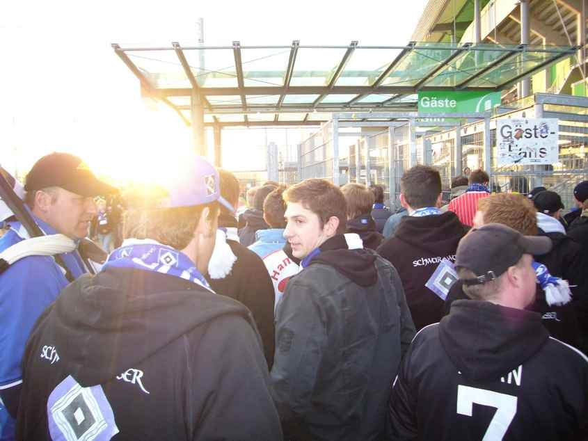 Auswärtsspiel DFB Pokal in Wolfsburg im Februar