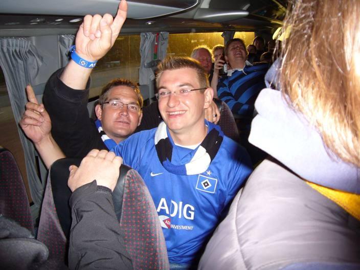 Busfahrt zum Heimspiel gegen den BTSV mit den Iselöwen im August