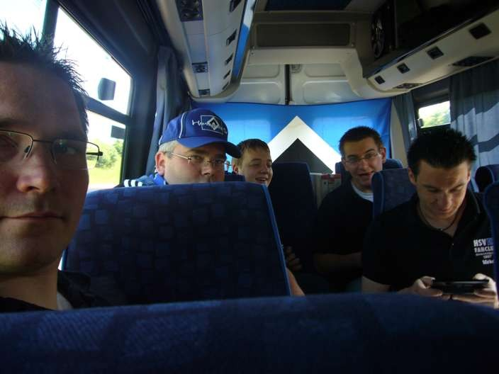 Im Bus unterwegs nach Frankfurt