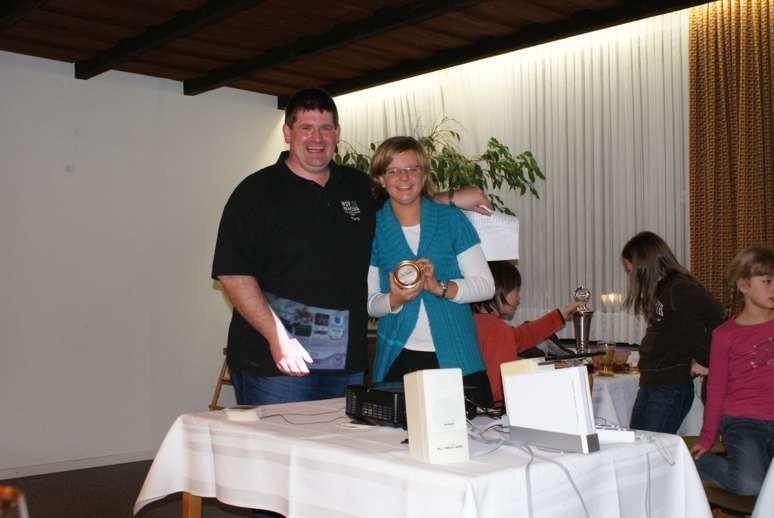 3. Siegerin beim Wii Bowling: Merle Kroll
