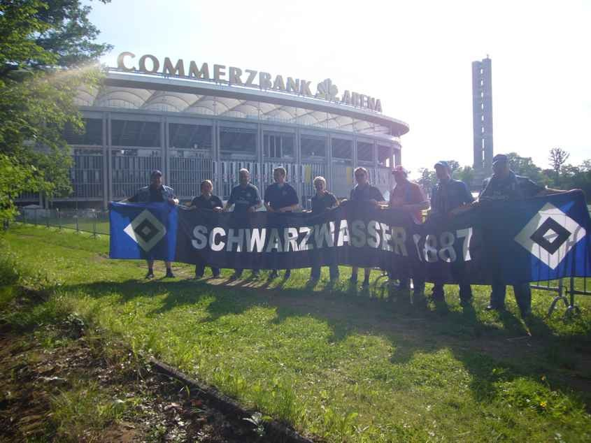 Letztes Saisonspiel 2008/09 in Frankfurt nach dem Sieg