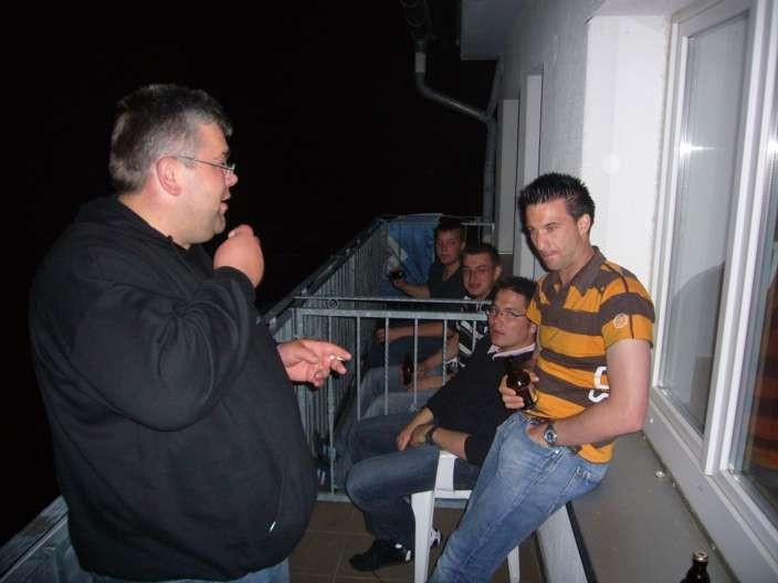 Nach dem Spiel gegen Frankfurt im Hotel