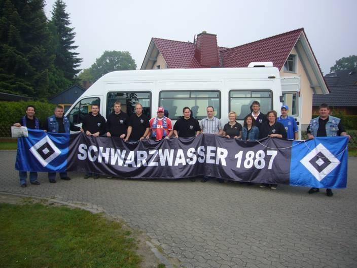Abfahrt zum letzten Saisonspiel 2008/09 nach Frankfurt