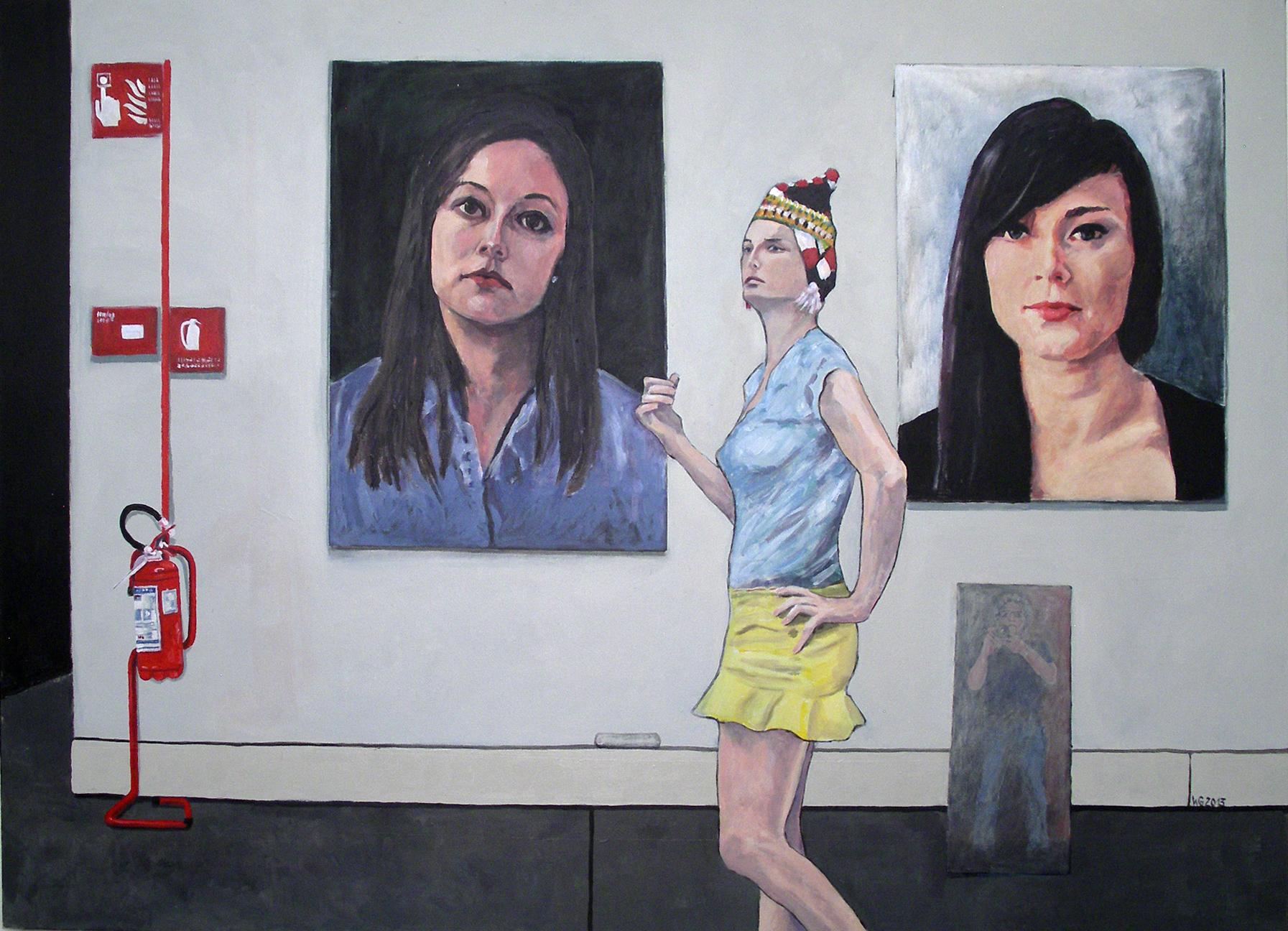 """In Venedig"", Acryl auf Baumwolle, 100x140, 2013"