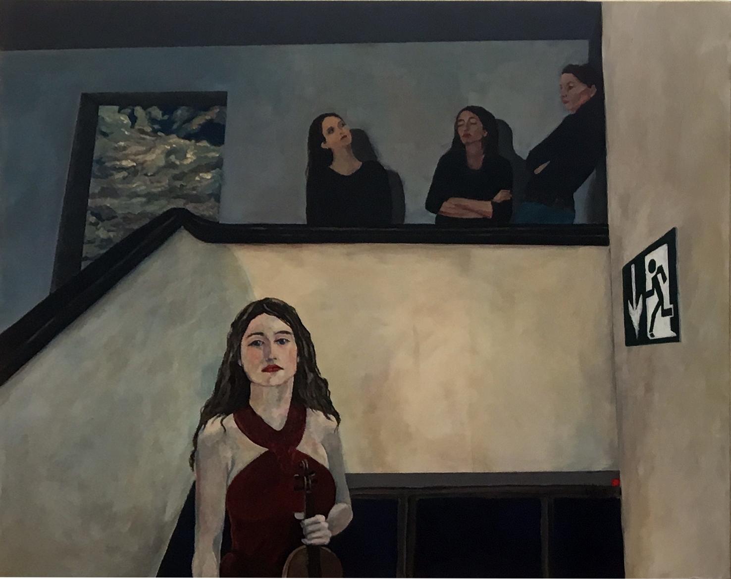 """""""Himmelstür"""", Acryl auf Baumwolle, 100x120, 2013"""